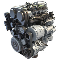 3d model s60 t6 drive-e petrol engine