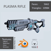 3d model plasma rifle