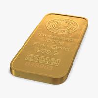 3d gold bar 1000g
