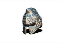 3d model of helmet gladiator