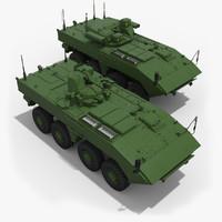 3d model armored vpk-7829 boomerang k-16