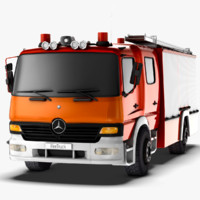 Mercedes Benz Atego Fire Truck - Game Ready ( Low Poly )