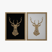 wooden deer picture fbx