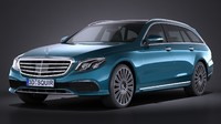 3d mercedes-benz e-class estate model