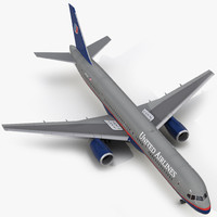 3d boeing 757-200 united airlines