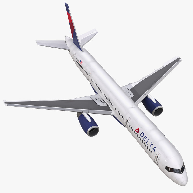 Boeing 757-200 Delta Air Lines Rigged 3dsmax vray 3d model 00.jpg