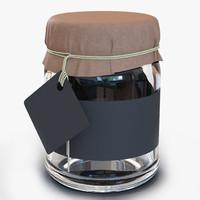 3d model glass jar 3