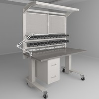 3d model height adjustable workbench