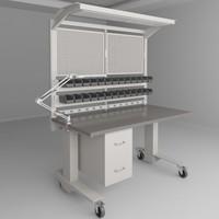 3d model height adjustable workbench