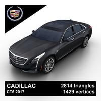 3d model 2017 cadillac ct6 sedan
