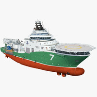 industrial vessel havila 3d max