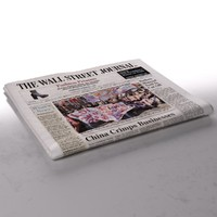 wall street journal newspaper 3d max