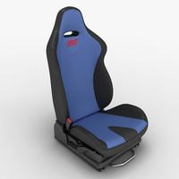 3d sport car seat wrx sti model