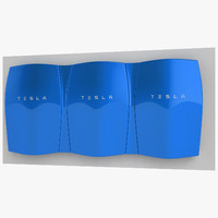 tesla powerwall power 3d model