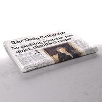 daily telegraph newspaper folds 3d obj