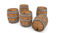 blend cartoon barrel