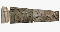 metopes friezes parthenon 3d max