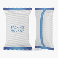 snack packing 3d model