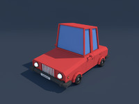 Low Poly Family Car 2