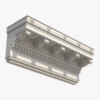 3d corinthian architrave frieze greco model