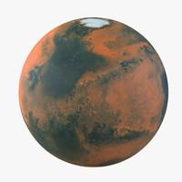 3d mars planet