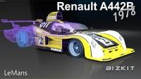 3d renault lemans a442b