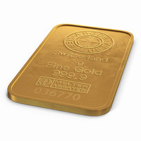 3d c4d gold bar 5g