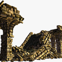 roman bridge 3d model