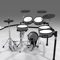 drums kit electronic 3d c4d