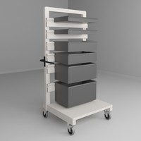 Height Adjustable Mobile Cart 2