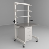 3d mobile height adjustable carts