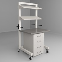 mobile height adjustable carts 3d max
