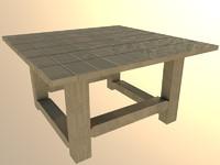 Mirror lake garden square table
