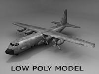 c-130 gunship 3d model