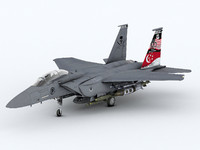 strike eagle f-15 3d model