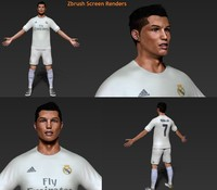 3d cristiano ronaldo character model