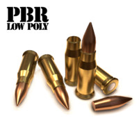 3d cartridge bullet 10 model