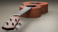 ukelele strings 3d obj