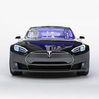 3d model tesla modeled