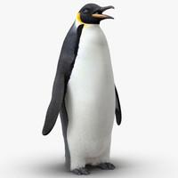 emperor penguin fur 3d max