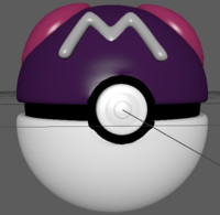 pokemon master ball 3d model