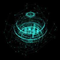 hologram planet 3d max