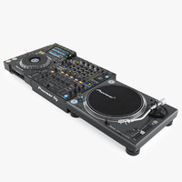 3d realistic pioneer dj set model