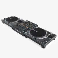 realistic pioneer dj set 3d model