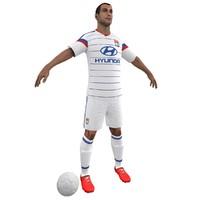 3d soccer player model