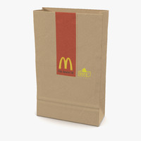 Fast Food Paper Bag 3 Mcdonalds