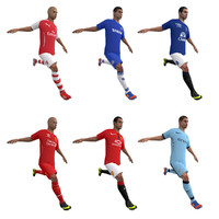 rigged soccer players body 3d model