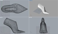 3d woman shoe lasts model
