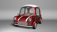 cartoon car 3d model