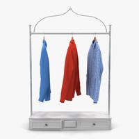 iron clothing display rack 3d model